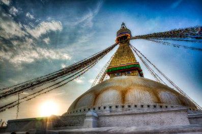 Buddhist stupa of Boudhanath in Kathmandu, Nepal