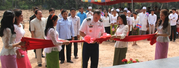 Preah Net Preah District Tuberculosis Ward Ribbon-Cutting. Source: US Army Corps of Engineers