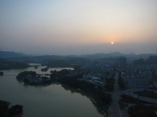 Huizhou, China - where patient zero lives. Source: Wikimedia Commons