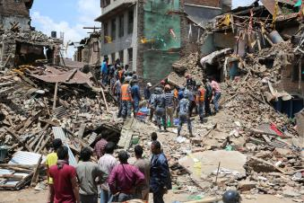 Devastation in Kathmandu, Nepal. Source: WOSU Radio
