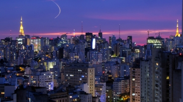 The skyline of São Paulo, Brazil. Source: Flickr, Júlio Boaro