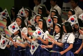 Students celebrate South Korea's Independence Day. Source: Zimbio