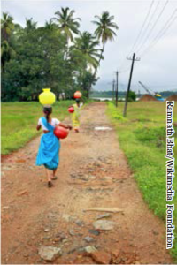 Women in rural India heading to get water for their families. Source: Ramnath Bhat/Wikimedia Foundation