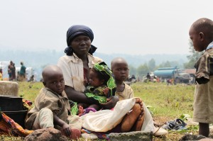 It is not uncommon for women in the Democratic Republic of Congo to have many small children. Source: Marie Cacace/Oxfam