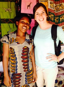 At the Iringa market with a local seamstress.