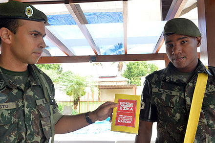 The Brazilian army has sent over 200,000 troops around the country in a campaign against Zika-carrying mosquitoes Source: Wikimedia Commons