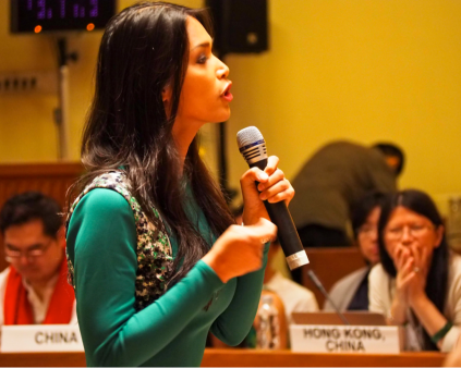 Geena Rocero, Trans Activist and Founder of Gender Proud, Philippines, speaks at the 2015 USAID Regional Dialogue on LGBTI Human Rights & Health in Asia-Pacific. Source: Richard Nyberg, USAID