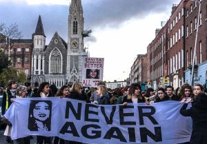 About ten thousand people attended a rally in Dublin in memory of Savita Halappanavar. Source: William Murphy, Flickr.