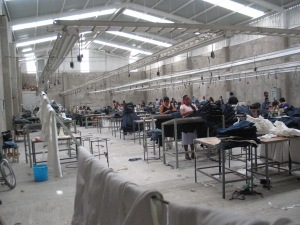 A maquiladora factory in Mexico. Source: Wikimedia Commons.