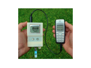 Whitesides' universal Mobile Electrochemical Detector (uMED), a handheld electrochemical detector that can perform chemical analyses and transmit the results to a cloud database from any mobile phone. Source: Whitesides Research Group.