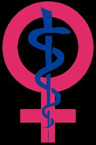 Icon representing women's health. Source: Kaldari, Wikimedia Commons.