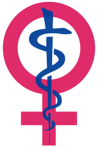 Icon representing women's health. Source: Kaldari, Wikimedia Commons.